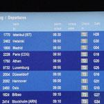 8:50 Uhr Abflug nach Helsinki