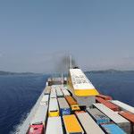 Meerenge zwischen Korfu und Albanien