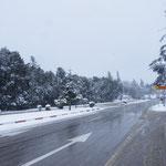 Winterwonderland - im Prizip schön, wenn man nicht gerade auf zwei Rädern unterwegs ist