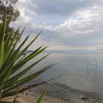 Blick von Benitses hinüber auf das griechische Festland