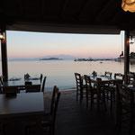Was für eine Location für ein leckeres griechisches Abendessen