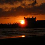 Sonneuntergang über dem Hafen