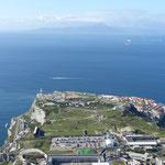 Die Südspitze Gibraltars, gegenüber Marokko