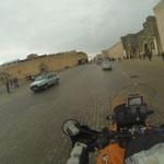 Erst bei Ankunft in Meknes hörte es auf zu regnen