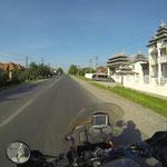 Die letzten Kilometer in Rumänien