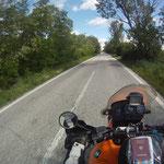 Die letzten Kilometer in Griechenland - der Pass ist schon griffbereit