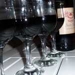 Zum Tagesausklang ein Gläschen Rotwein