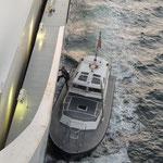Kurz vor Venedig kommt der Lotse an Bord