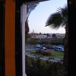 Blick aus dem Hotelzimmer
