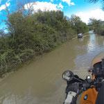 Kleine Überflutung kurz vor Skopje