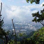 Blick hiunter auf Grenoble