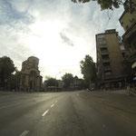 Tote Hose im morgendlichen Belgrad