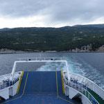 Blick zurück auf´s Festland