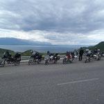 Pause oberhalb des Ohrid-Sees
