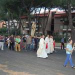 Processione con la statua della Vergine - 13 luglio 2008