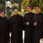 I frati con Padre Giuseppe Parroco