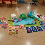 Spielstunde für die Vorschüler im Kindergarten.