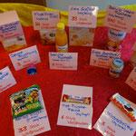 Zuckerquiz mit Babynahrung bei einer Hebammenschulung