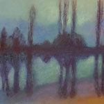 Nebel am Haussee-Kalenderblatt  Hoppegartener Ansichten 2016  / 33 x 50 cm