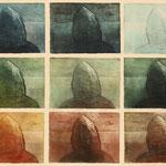 Am Meer-1   1983  Farbaquatinta   60cm x 80 cm