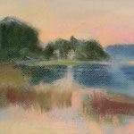 Schilfgürtel am See bei Buckow  2014  /  21 x 29,7 cm