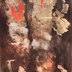 """Vision 1 "" Thema: Golfkrieg  1992  90 x 70 cm"