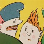 """""""Verbale Unterdrückung"""", Zinkografie / 1984"""
