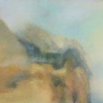 Kanarische Felsen im goldenen Licht  2013  /   24,8 x 32,5cm