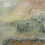 Norwegen-Eismeer 1990 Acryl/Ölkreide  /   36 x 47,5cm