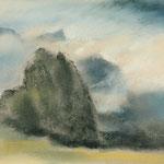 Gomera-Felsen vor Schlucht  2013  /   24,8 x 32,5cm