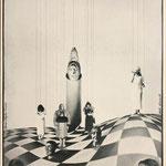 """Ausstellungsplakat zur Personalausstellung 1980 in der """"Kleinen Galerie"""" Eberswalde gemeinsam mit Steffi Mönnich (rechts)"""