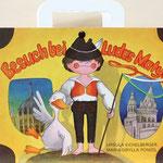 Kofferbuch mit ausklappbaren Bildelementen / Besuch bei Ludas Matyi / 1980 Verlag Junge Welt Berlin