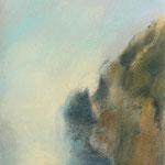 Steilküste auf Gomera 2013 Pastell  /  32,5 x 25cm