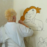 Übung in der Malerkoje