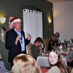 Der Präsident eröffnet den festlichen Abend