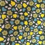 Blumen Blau/grün/gelb