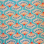 Pusteblumen Muster blau/rot