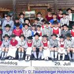 Trachtenjugend der drei Vereine D' Abergler Föching, D' Herzbergler Hartpenning und D' Taubenberger Holzkirchen anläßlich des 101. Gaufestes 2012 in Holzkirchen welches die drei Vereine zusammen ausgerichtet haben.