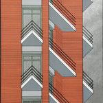 """Sérigraphie de la série """"Périphérie"""" (architecture parisienne), 1981"""