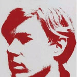 SELF-PORTRAIT, synthetic polymer paint and silkscreen ink on vinyl, 27,6 x 21,6 cm, 1967 / unique  numbered A1191.104 on the reverse