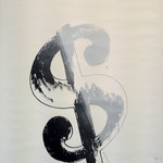 $ Sign, Silkscreen on paper mounted on foam paper, 87,6 x 55,9 cm, 1982 / unique