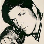 TOM SEAVER, Silkscreen on paper, 89 x 114 cm, 1977 / unique // stamped on verso by Andy Warhol Art Authentication Board, Inc.