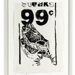 STEAKS 99 ¢, Silkscreen on Moulin du Verger paper, 60 x 38 cm / 1986 unique // stamped on verso by The Estate of Andy Warhol