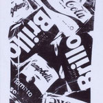 BRILLO, Polymer paint on cotton, 37 x 63 cm, 1985 / unique // stamped on verso by The Estate of Andy Warhol