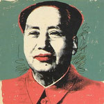 MAO, Silkscreen on paper, 91,4 x 91,4 cm, 1972 / unique // stamped on verso by Styria Studios New York
