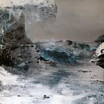 Abrasion I, Öl/ Acryl auf Leinwand, 130 x 130 cm, 2014