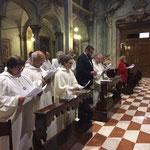 Celebrazione dei Primi Vespri del Transito del n. s. p. Benedetto