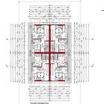 Bauantrag, Abgeschlossenheit, Entwässerung: Grundriss DG - Neubau von 4 Einfamiliengruppenhäusern mit 6 PKW- Stellplätzen, Erkrath