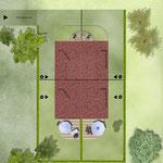 Übersichtsplan: Neubau von 4 Einfamiliengruppenhäusern mit 6 PKW- Stellplätzen, Erkrath