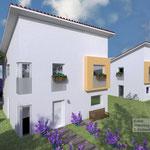 Bauantrag, Abgeschlossenheit, Entwässerung:  Neubau von 2 Einfamilienwohnhäusern mit 4 PKW-Stellplätzen, Kaarst